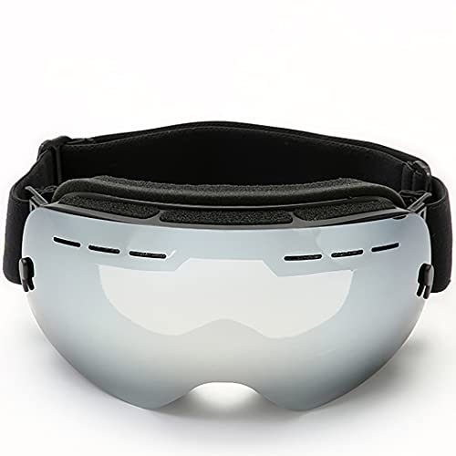 CLCL Lunette Ski Anti-UV et Antibrouillard pour Ski, Masque de Ski Design Panoramique à 180°, Masque de Ski Lunettes d'anti-buée et Coupe-Vent pour Les Hommes,Les Femmes et Les Jeunes,Mercury Film