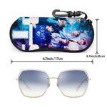 Haililais KpOp BtS Étuis à lunettes rigides unisexes/étuis à lunettes et lunettes de soleil pour hommes, femmes et enfants