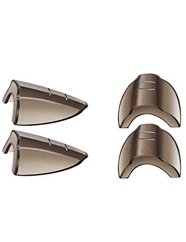 Lot de 2 paires de protections latérales flexibles pour lunettes de sécurité – Pour lunettes de petite à moyenne taille – Marron