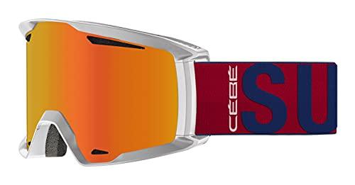 Cébé Reference x Superdry Masque de Ski Unisex-Adult, White Matte, Large