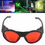 Lunettes de protection, lunettes de sécurité confortables à porter avec étui à lunettes pour bloc UV bleu, rouge