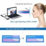 EYEphd Lunettes de Lecture intelligentes Multi-Focus progressives Anti-lumière Bleue pour Femmes, loupe Demi-Monture en métal Ultra-légère/Anti-Fatigue +1,0 à +3,0,02,+3.0