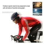 HUGMIN Lunettes De Vélo, Lunettes de Soleil an-ti-Voyeu Unisexe UV400 Visière Sports de Plein air Lunettes de Mode Tendance de Mode Sunglasses Vélo de Moto Pièces de vélo (Color : 07)
