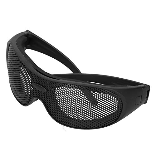 KASD Lunettes de sécurité, Goggles Mesh Pattern Cover PC + Lunettes en Caoutchouc UV400 pour CS Outdoor Game