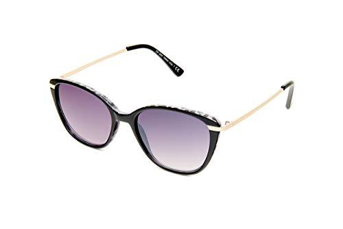Kost Lunettes de soleil rectangulaires pour femme Noir/violet (20-055)