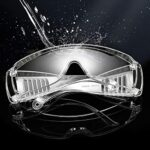 LIXFDJ 818 Lot de 2 paires de lunettes de sécurité transparentes anti-poussière pour lieu de travail, laboratoire, dentiste