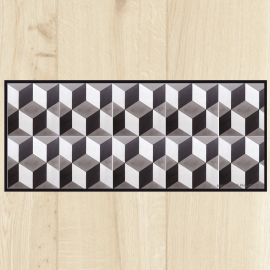 tapis de cuisine carreaux ciment geometrique