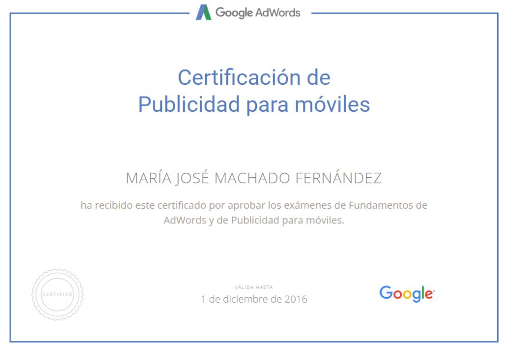 certificacion publicidad para moviles