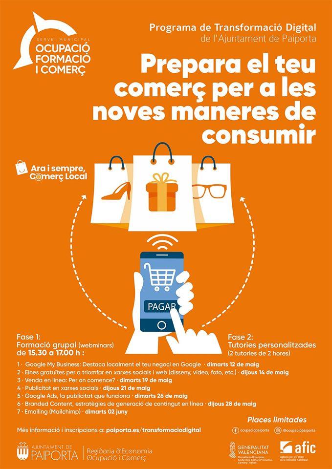 Programa de Transformación Digital para el Pequeño Comercio de Paiporta