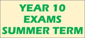 Year 10 Examinations Summer 2017