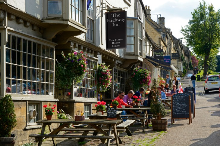 High Street in Burford, Oxfordshire, England