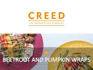 Creed TV Beetroot and Pumpkin Wraps