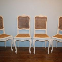 Bergere Dining Chairs Revolving Chair Metal Base Set Of Four Matching French Provencale 1900