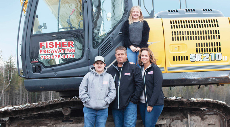 Fisher Family with digger