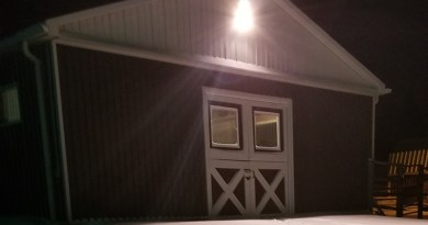 Outside Of Barn during winter
