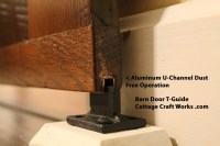 USA sliding barn door hardware, for up to 8' openings
