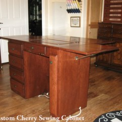 Tall Living Room Cabinets Home Design Pictures Sewing Machine Cabinet Finished Back Executive Desk Style