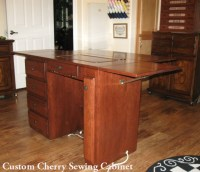 Sewing Machine Cabinet Finished Back Executive Desk Style