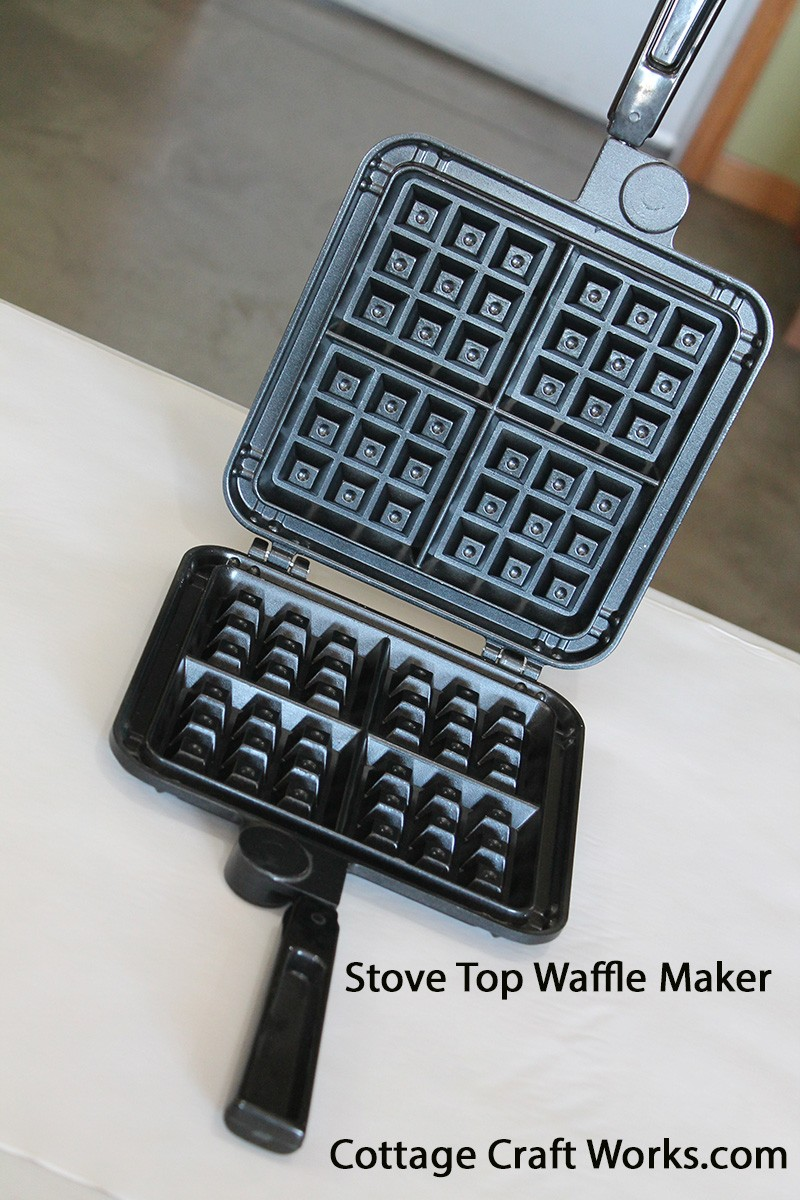 Nonelectric Stove Top Belgian Waffle Iron  Cooking