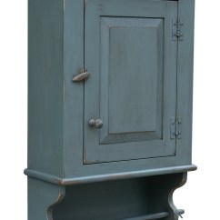 Kitchen Kits Cart Plans Primitive Distressed Country Wall Cupboard, Towel Rod