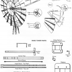 Door Hardware Diagram 1999 Ford Mustang Radio Wiring Aermotor Usa Made Windmills - Farm & Garden