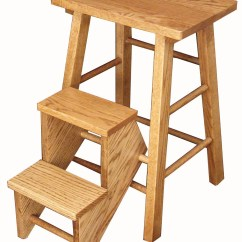 Wooden Step Stool Chair Aeron Repair Folding Vintage Reproduction Amish Made