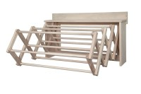 """Wall Mounted Accordion Clothes Drying Rack, 30"""" Amish ..."""