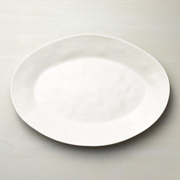 Tableware + Flatware, White Organic Platter