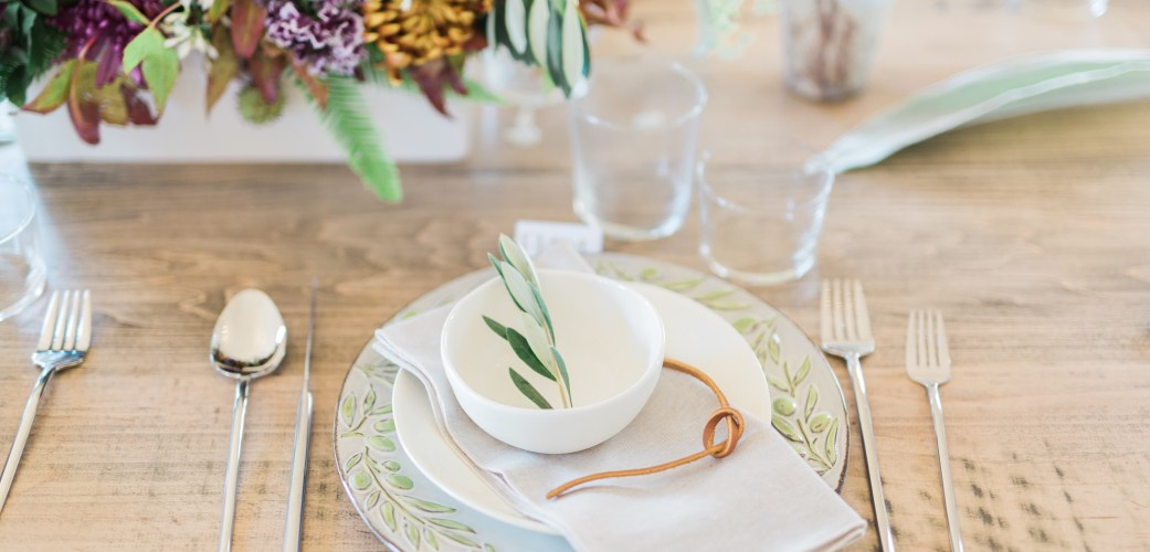 Event Rentals Place Setting Example