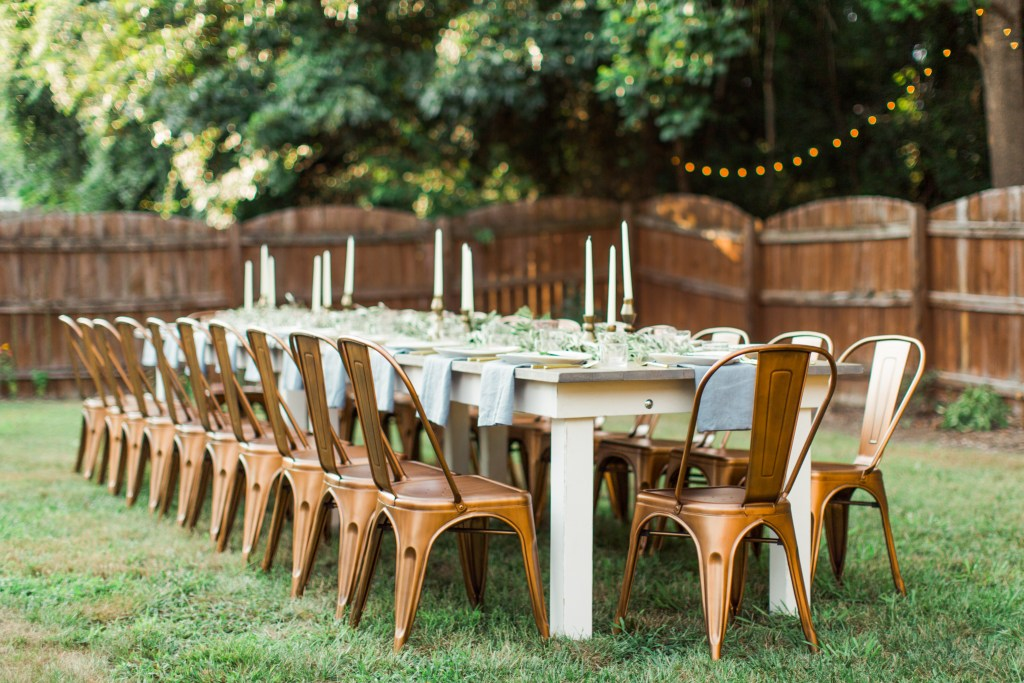 Signature Farm House Tables - Look Book, backyard party