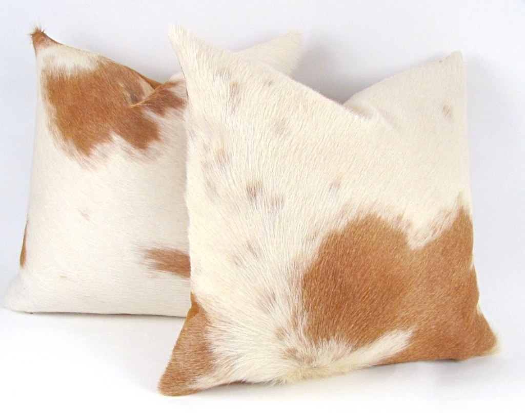 Pillows + Throws + Rugs, Cowhide Pillow