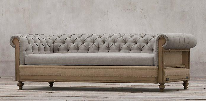 "Upholstered Furniture, The ""Big Bash"" Chesterfield Sofa"