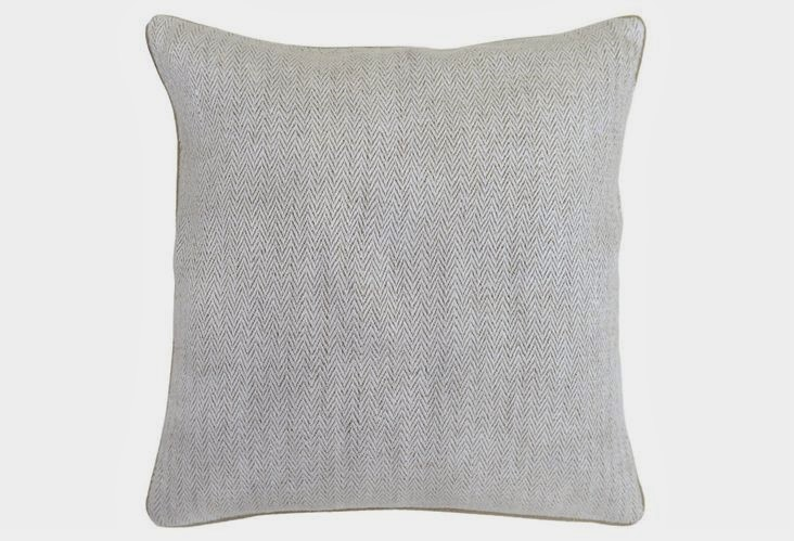 Pillows + Throws + Rugs, Grey Herringbone Pillow