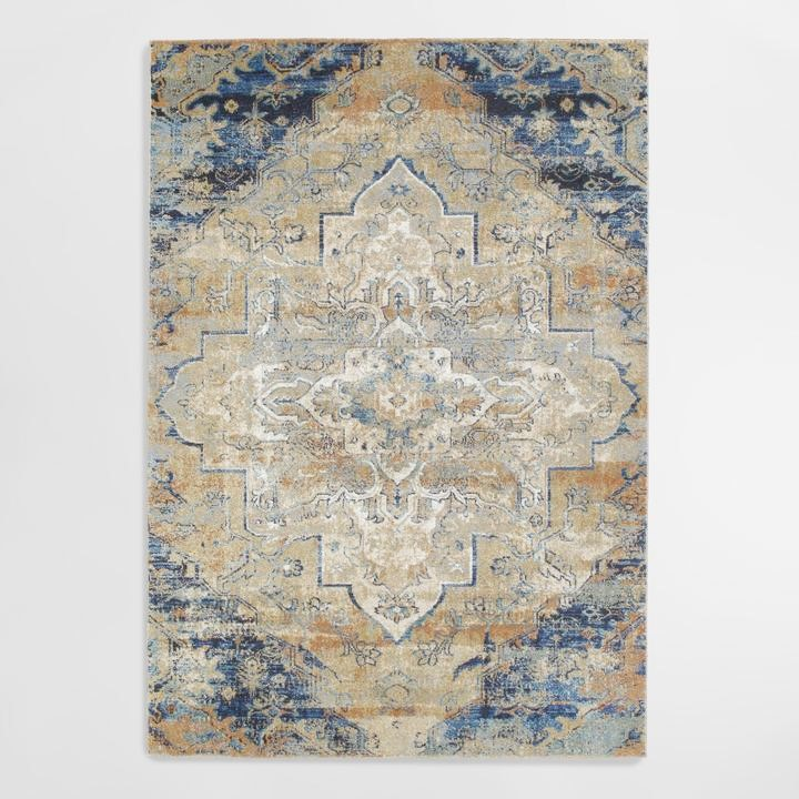 Pillows + Throws + Rugs, Indigo Medallion Rug