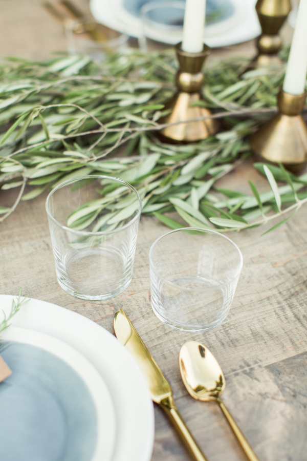 Glassware and table setting