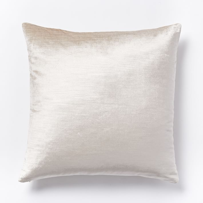 Pillows + Throws + Rugs, Ivory Luster Velvet Pillow