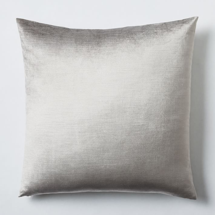 Pillows + Throws + Rugs, Platinum Luster Velvet Pillow