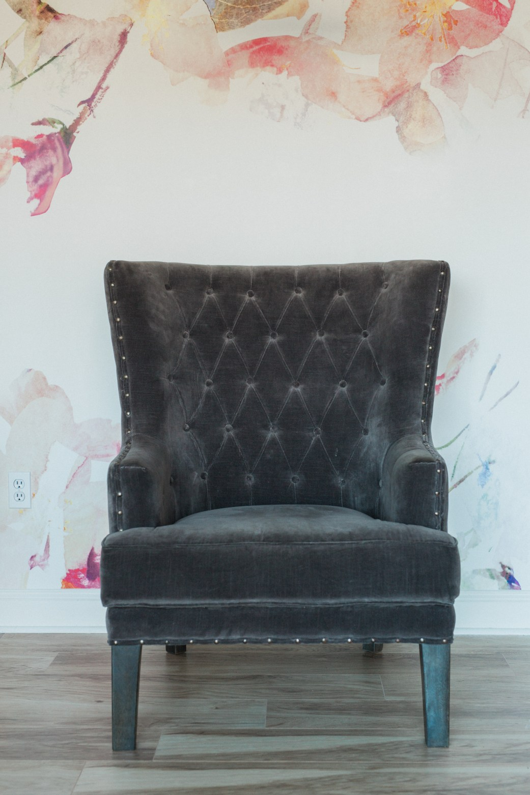 Upholstered Furniture, Joseph Wingback Velvet Chair