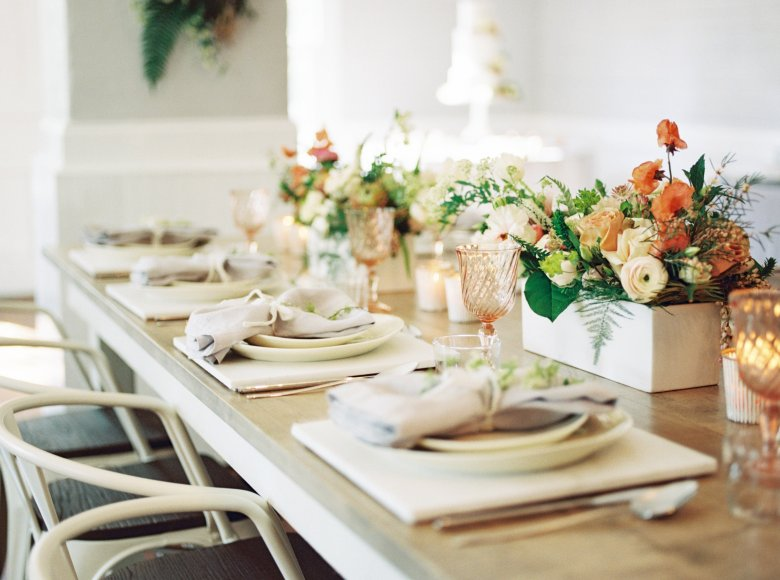 Pop up Bridal with Cottage Luxe Place settings