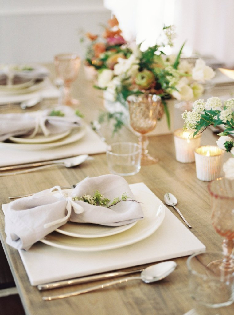 Pop up Bridal with Cottage Luxe Place Settings and candles