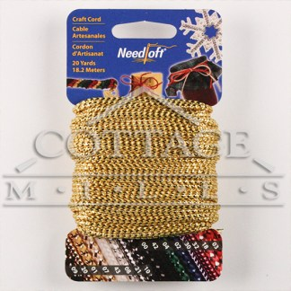 Cottage Mills Novelty Craft Cord 20yd-Metallic Blue 550-55002