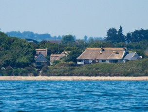 A view of the Cottages from the Irish Sea