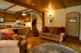 The living room in Garden Cottage