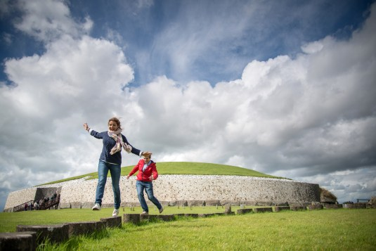 Children playing at Newgrange