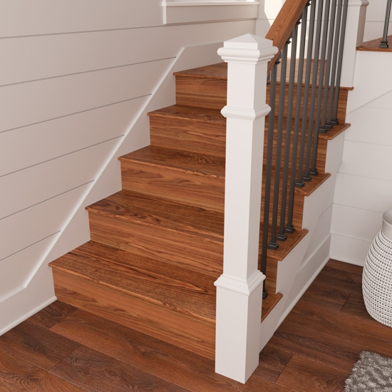 Reversible Stair Risers A Diy Revamp Cottage Style Decorating | Wood Stairs With Wood Risers | Painting | Solid Oak Stair Treads Finished | Distressed | Before And After | Wooden