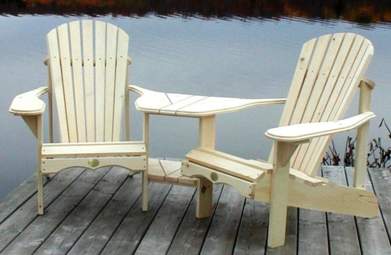 CottageSpot Two Person Angled Pine Adirondack  Muskoka Chair