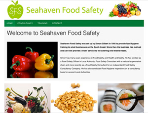 Seahaven food safety website screen
