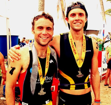 tim-and-james finishing lavaman triathlong. GReat friends after 7 years racing together! jpg