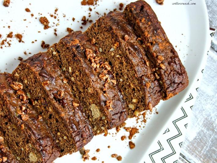 paleo chocolate hazelnut bread