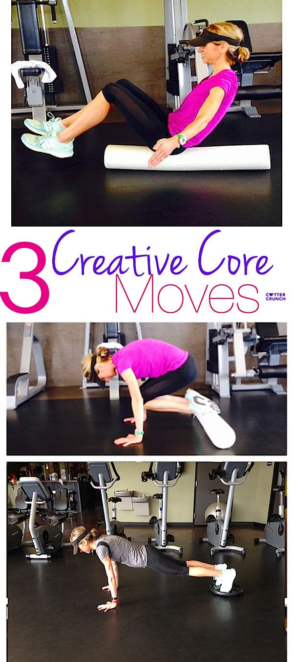 Core exercisesfor balance and strength don't have to include crunches! These 3 core exercises are creative and suchfun to try! See for yourself.